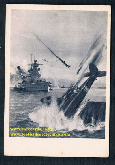 1941 WW2 war art RAF  Blenheim I battleship Wilhelmshafen